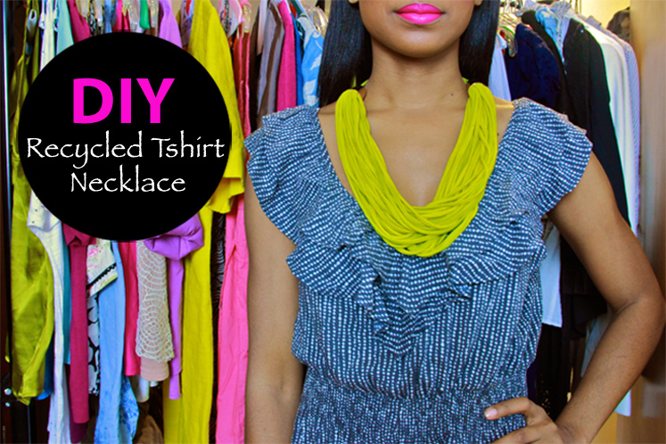 DIY: Recycled Tshirt Necklace | FRUGAL-NOMICS