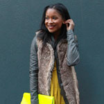Fur Vest and Homemade Clutch Gallery Thumbnail 2