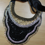 DIY Bead and Chain Bib Necklace 150x150C