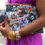 Double Zipper Printed Clutch Gallery Thumbnail