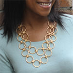Gold Ring Necklace Gallery Thumbnail