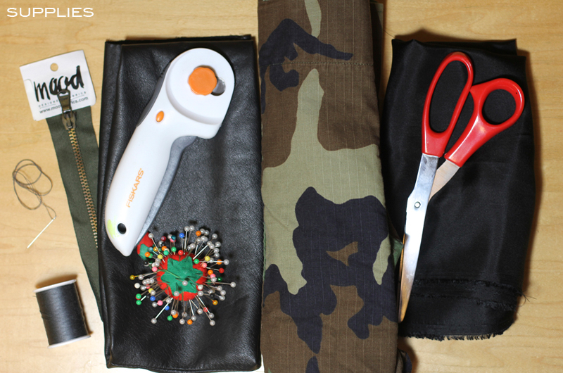 Diy Camo And Leather Foldover Clutch With Tassel Frugal