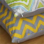 Chevron and Ikat Throw Pillows 150X150B