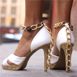 Chain Embellished Heels Inspired by DVF Gallery Thumbnail