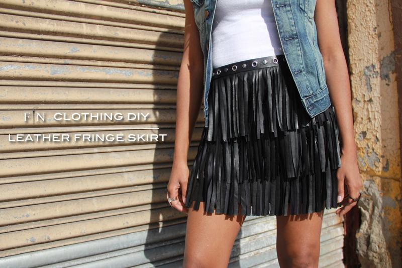 Frugal-nomics DIY: Leather Fringe Skirt | Frugal-nomics.com