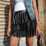 Leather Fringe Skirt Gallery Thumbnail1