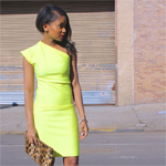 Neoprene One Shoulder Dress Gallery Thumbnail