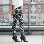 Tribal Print Tapered Trousers Gallery Thumbnail