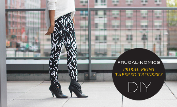 Tribal Print Tapered Trousers New Gallery Photo