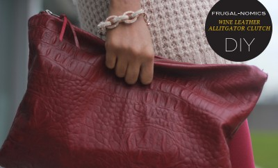 Wine Leather Alligator Clutch 650x433